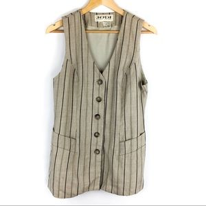Jodi Canada Long Striped Vest Size 10